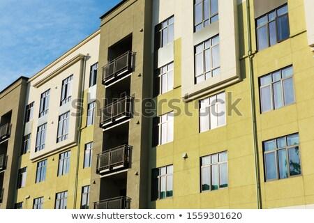 Fachada vida edificio pueblo ladrillo Foto stock © robuart