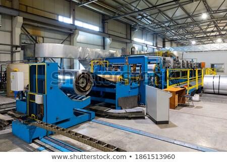 Factory production line - industrial plant shop interior, manufa Stock photo © gomixer