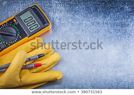 Digital multimeter, probes and gloves Stock photo © nomadsoul1