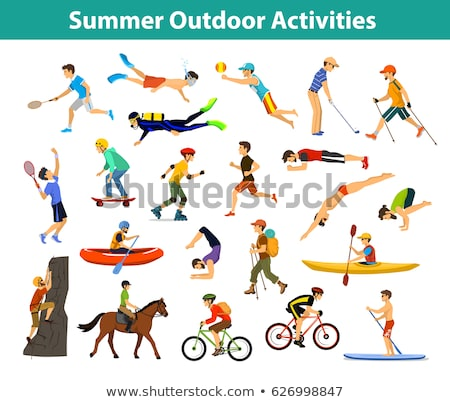Beach Badminton, Snorkeling, Beach Activities Stock photo © robuart