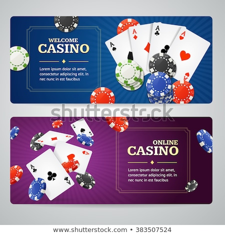 Jeux cartes casino bord affaires vecteur Photo stock © robuart