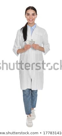 Giovani chimico isolato bianco uomo Lab Foto d'archivio © Elnur