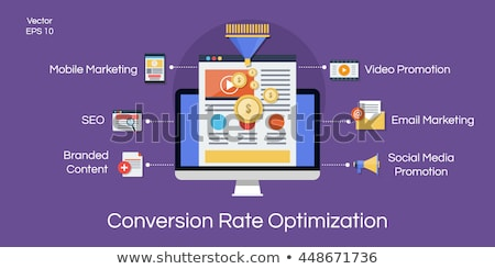 Conversion rate optimization concept vector illustration. Stock photo © RAStudio