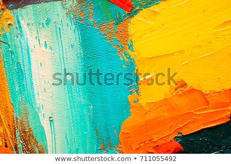 Mano pittore verde acquerello macchia texture Foto d'archivio © SArts