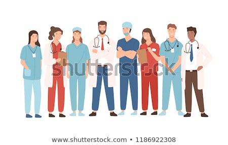 Paramedicus werknemer helpen persoon medische gezondheid Stockfoto © Lopolo