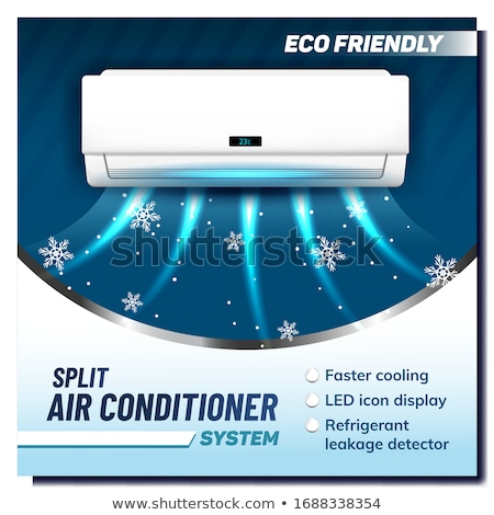 Split Air Conditioner System Promo Banner Vector Stock photo © pikepicture