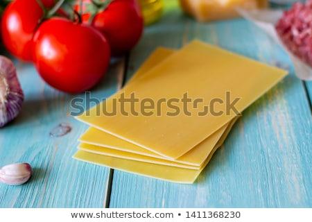 材料 料理 ラザニア 先頭 表示 ランチ ストックフォト © furmanphoto