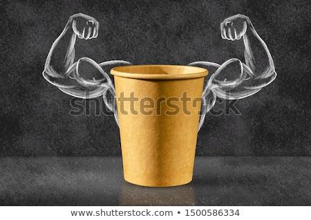 Poderoso comida poder alimentação símbolo exercício Foto stock © Lightsource