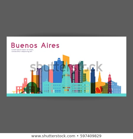 аннотация Буэнос-Айрес Skyline цвета небе здании Сток-фото © ShustrikS