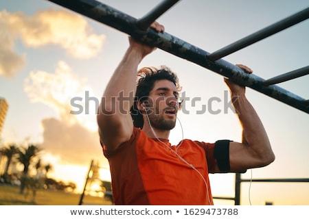 Jonge mannen oefening triceps man sport fitness Stockfoto © Jasminko