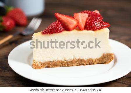 Cheesecake salsa cioccolato menta sfondo Foto d'archivio © olira