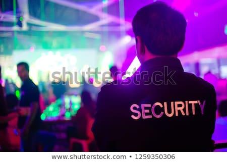 Guardia de seguridad agente pie puerta entrada seguridad Foto stock © AndreyPopov