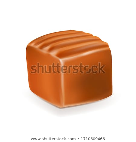Caramel Toffee Candy Delicious Chewy Fudge Vector Stock photo © pikepicture