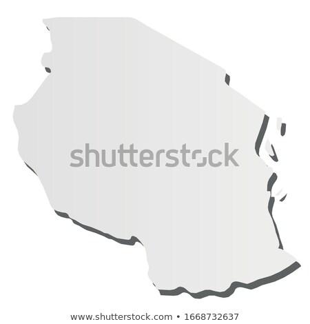 Tanzânia país mapa simples preto silhueta Foto stock © evgeny89