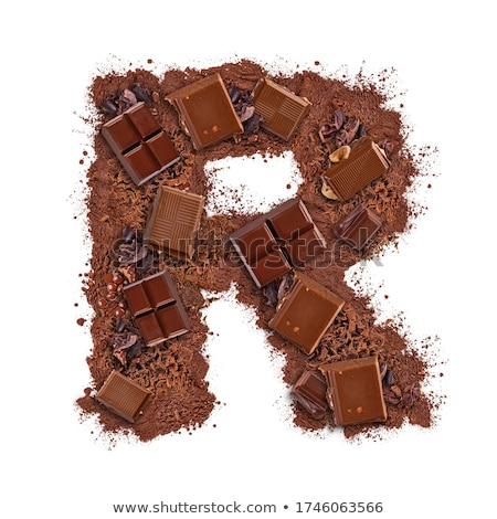 Letter R made of chocolate bar Stock photo © grafvision
