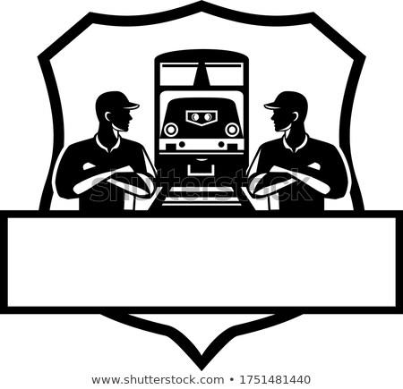 列車 エンジニア ディーゼル クレスト レトロな ストックフォト © patrimonio