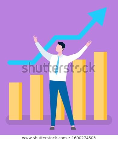 брокер растущий продажи графа люди роста Сток-фото © robuart