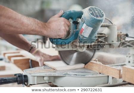 Elétrico serra máquina faíscas rotação Foto stock © grafvision