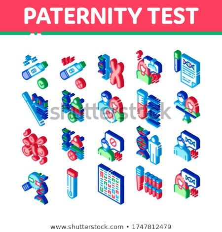 Babalık test DNA izometrik vektör Stok fotoğraf © pikepicture