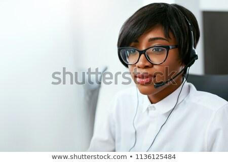 Mulher call center hotline operador atendimento ao cliente apoiar Foto stock © robuart