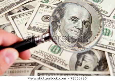 Сток-фото: Magnifying Glass - Dollar Note