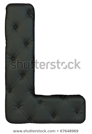 Luxury Black Leather Font L Letter Stok fotoğraf © Arsgera