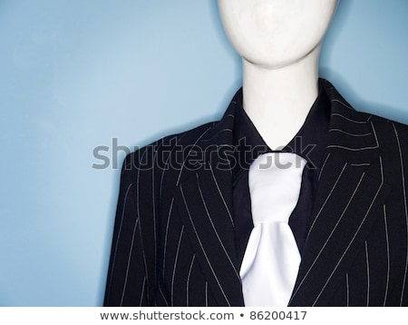 faceless dummy model dressed in business suit and tie Stock photo © travelphotography