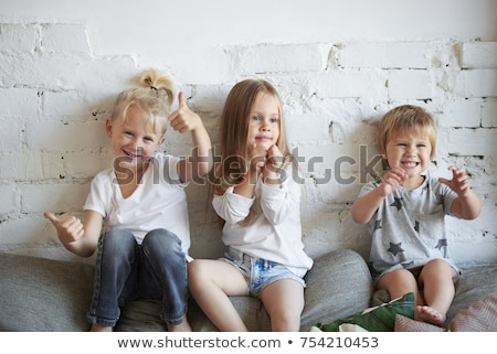 Man with three kids posing stock photo © Paha_L