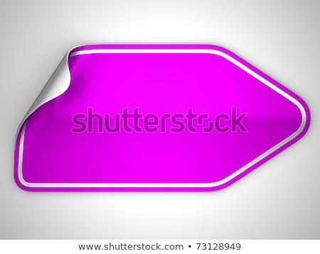Magenta Sticker Or Label Over Grey Stok fotoğraf © Arsgera