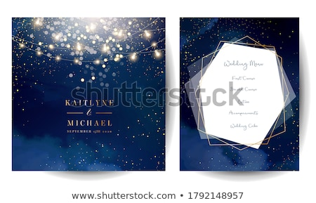 christmas card with blue lines stock photo © orson