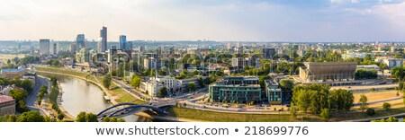 Panorama of Vilnius Stock photo © johnnychaos