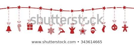 Engel Sternen Spielerei Dekoration Weihnachtsbaum glücklich Stock foto © sirylok