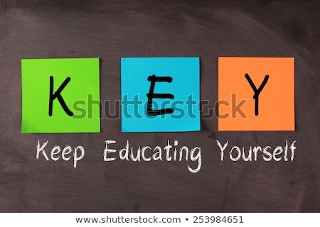 Akronim kluczowych tablicy tle przestrzeni list Zdjęcia stock © bbbar