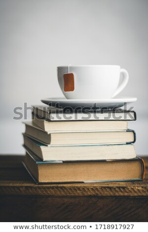 Tea glasses in backlight on the black and white Stock photo © designsstock