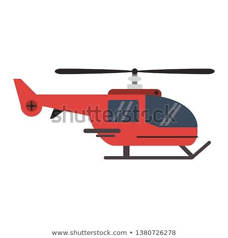 fény · helikopter · repülés · repülés · felhős · égbolt - stock fotó © raywoo