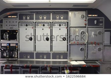 Interior aeronave foco assento números ar condicionado Foto stock © lightpoet