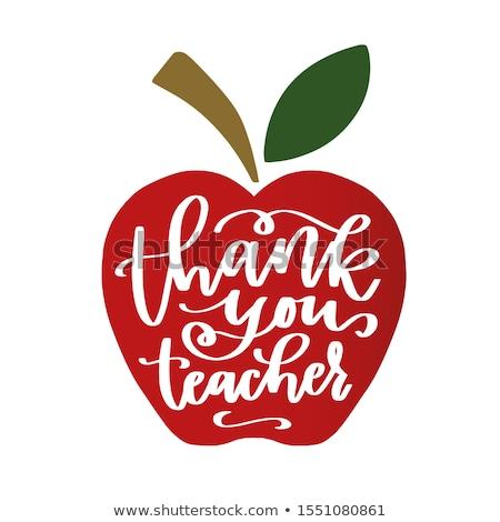 Apple for teacher Stock photo © lovleah