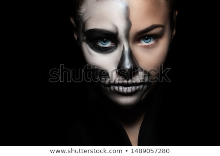 scary young face at halloween stock photo © stuartmiles