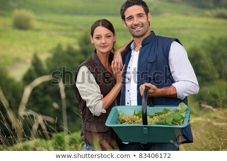 attractive couple grapepicking stock photo © photography33