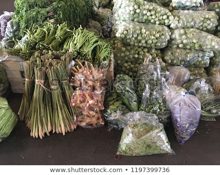 Various kinds of salad  to sell at a farmer's market stock photo © frank11