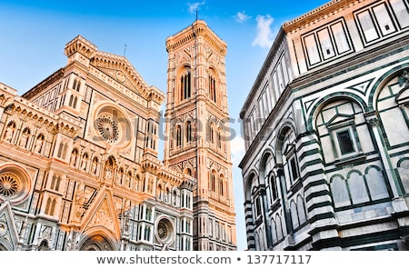 Florence cathedral, Giotto's Tower and Baptistry Stock photo © ajlber