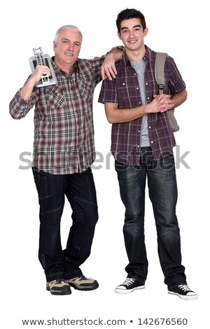 Senior man and younger with backpack Stock photo © photography33