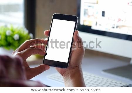 üzletember mobiltelefon üzlet iroda férfi fiatal Stock fotó © photography33
