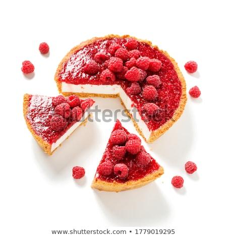 cake with raspberry stock photo © cynoclub