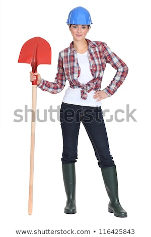 Woman stood with shovel Stock photo © photography33