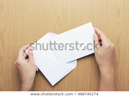 woman with index card Stock photo © pdimages