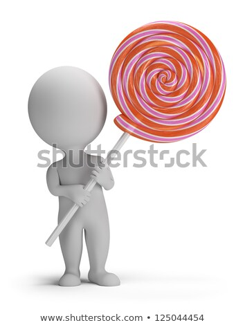 3d small people - lollipop Stock photo © AnatolyM