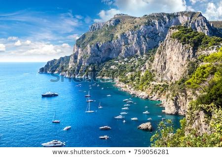 Италия морской пейзаж выстрел острове небе облака Сток-фото © maisicon