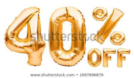 Arany negyven százalék felirat izolált fehér Stock fotó © grasycho