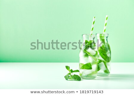 Menthe verre tasse citron Photo stock © zhekos